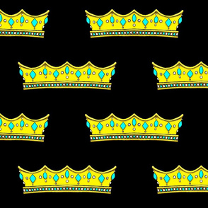 Turquoise Tiara 2- Black Background