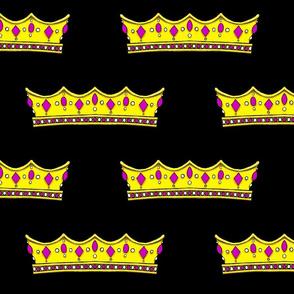 Purple Tiara 2- Black Background