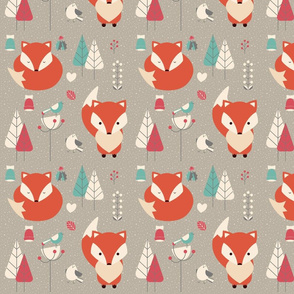 Woodland Winter Fox