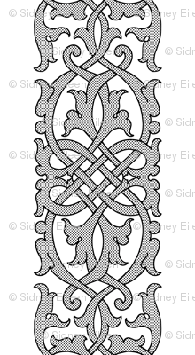 Detailed Tudor Floral Knotwork