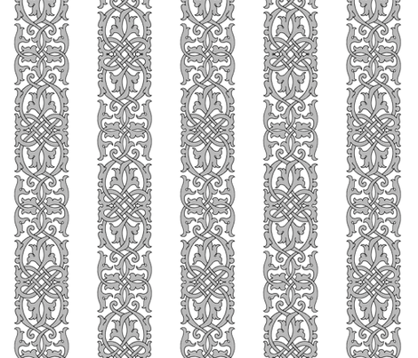 Detailed Tudor Floral Knotwork fabric by sidney_eileen on Spoonflower - custom fabric