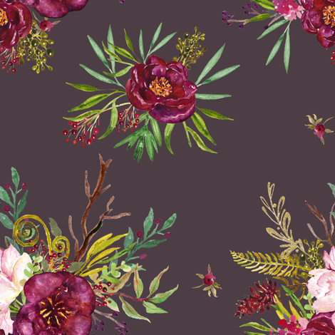 Crimson - Brown / Purple fabric by shopcabin on Spoonflower - custom fabric