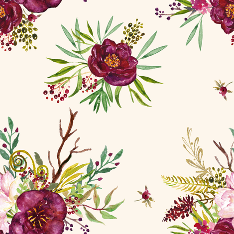 Crimson - Tan fabric by shopcabin on Spoonflower - custom fabric