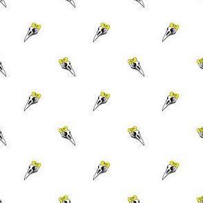 Bird Skull with Bow