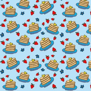 Pancakes blue small