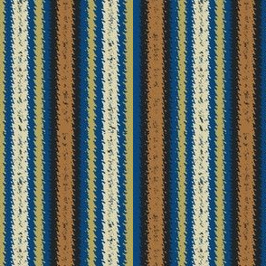 JP15 - Tan and Blue Vibrations, narrow stripes