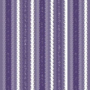 Bluish Purple, Lavender and White Jagged Stripes