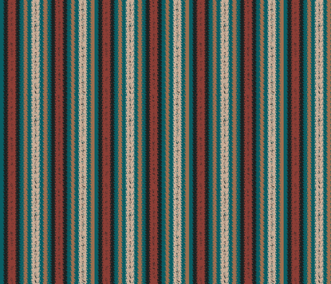 JP14 - Turquoise and Rust Variegated Stripes, narrow fabric by maryyx on Spoonflower - custom fabric