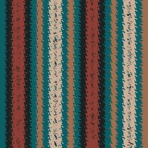 Turquoise and Mauve Variegated Stripes, narrow