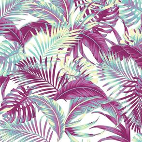 Jungle Floral - White/Grape