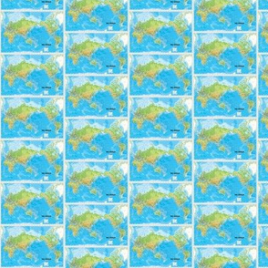World map, small tiled