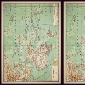 Oceania vintage map, small