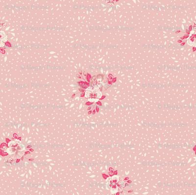 Subtle Ditsy Floral - Baby Pink