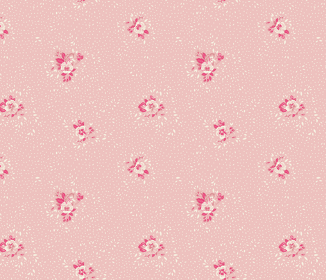 Subtle Ditsy Floral - Baby Pink fabric by meganpalmer on Spoonflower - custom fabric
