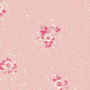 Subtle Ditsy Floral - Baby Pink