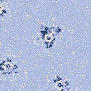 Subtle Ditsy Floral - Baby Blue