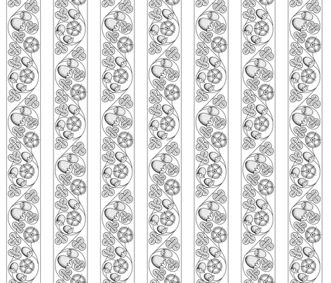 Scrolling Blackwork Strawberry Bands fabric by sidney_eileen on Spoonflower - custom fabric