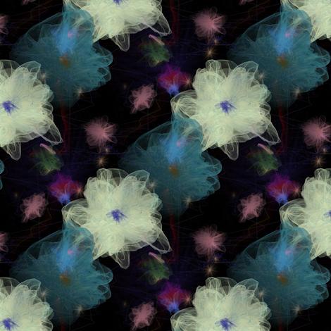 Large Silk Flowers fabric by flutterbi on Spoonflower - custom fabric