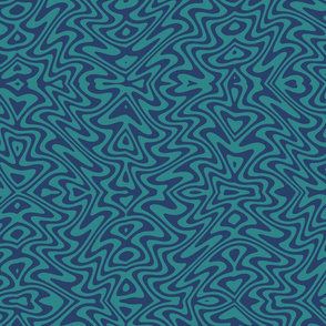butterfly swirl - navy and teal