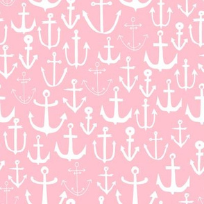 anchors // nautical fabric cute nautical pink anchors fabric girls summer fabric cute anchors fabric