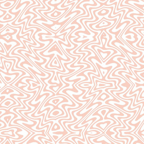 butterfly swirl in peach and white