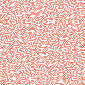 butterfly swirl in coral and white