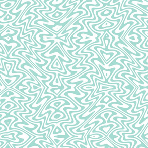 butterfly swirl in blue mint and white