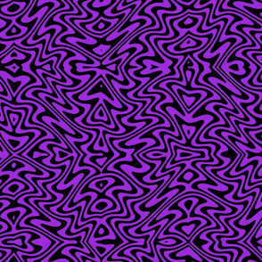 psychedelic butterfly swirl - purple and black