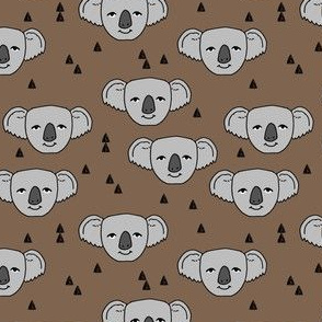 koala // cute koala faces australian animal fabric australia zoo animals cute koalas pattern print by andrea lauren