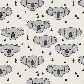 koala // cream background cute australian animals fabric cute koala illustration pattern koala fabric by andrea lauren
