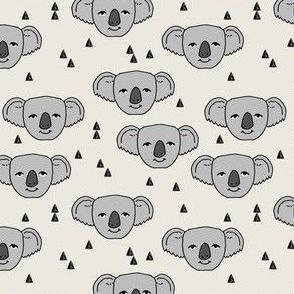 koala // cream background cute australian animals fabric cute koala illustration pattern koala fabric by andrea lauren