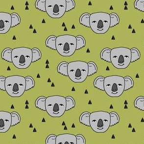 koala // lime green koala fabric cute australian animals fabric best australian fabric cute zoo animals nursery design andrea lauren fabric andrea lauren design