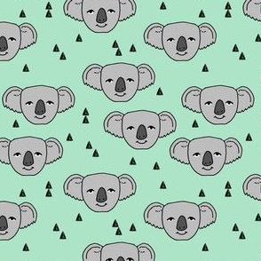 koala // cute mint koalas fabric cute nursery baby zoo animals pattern andrea lauren fabric australian animals fabric cute australian baby design