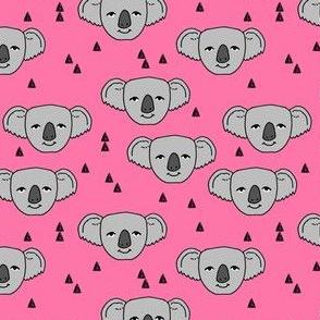 koala // cute australian animals fabric cute koalas pink fabric best australian animals pattern by andrea lauren