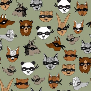 bandit animals // cute fancy dress design best play dressup fabrics for kids cute animals illustrations