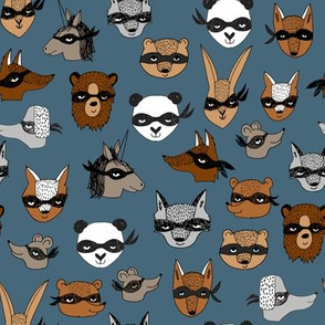 bandit animals // cute animal masks fabric best animal design play fancy dress dressup kids fabric