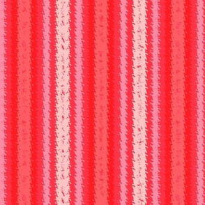JP37 - Scarlet Red and Pink Jagged Stripes