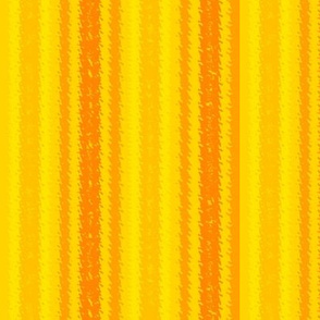 JP36 -  Orange and Lemon Jagged Stripes