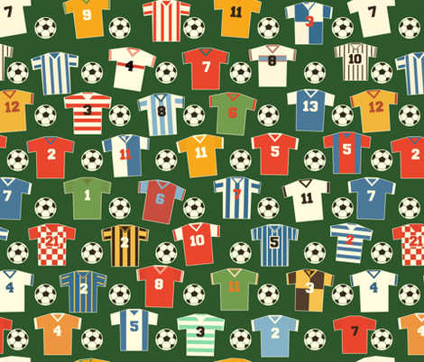 Soccer shirts fabric by daviz_industries on Spoonflower - custom fabric