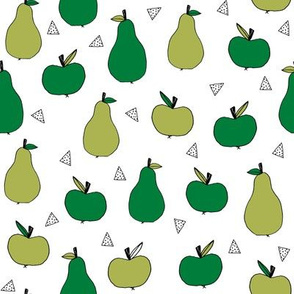 apples and pears // green apples fruit fabric orchard fruits fabric illustration by andrea lauren