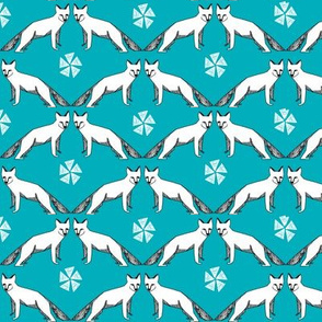 arctic fox // turquoise fox fabric nursery baby arctic foxes andrea lauren nursery baby
