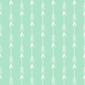 arrow rows // mint arrow fabric nursery baby arrows cute design arrows fabric