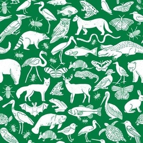 linocut animals // kelly green fabric nursery baby botanicals fabric nursery baby design