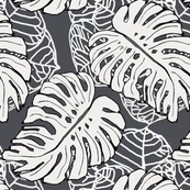 Tropical Jungle Gray