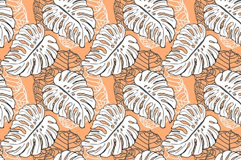 Tropical Jungle Papaya fabric by lulabelle on Spoonflower - custom fabric