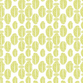 Tropical Leaves Block Print Green