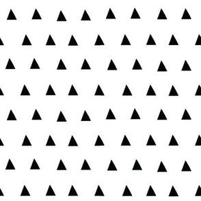 triangles, black on white