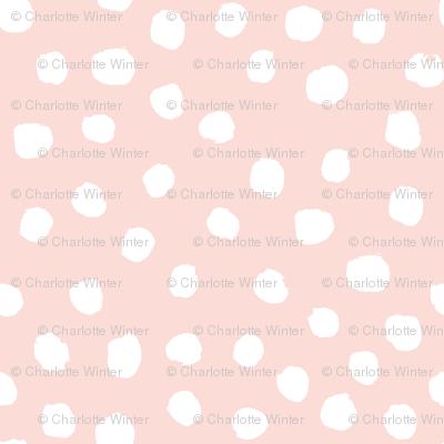 blush dots baby nursery design