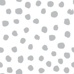 grey dots nursery baby fabric