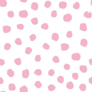 painted dots fabric pink dot design painted dots nursery baby cute dots